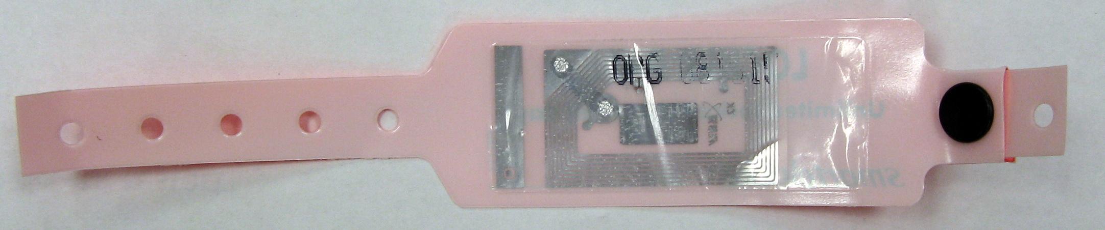RFID bracelet bottom